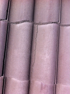 Cracked roof tile repair calgary