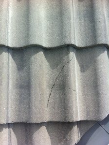 Cracked clay roof tile repair calgary